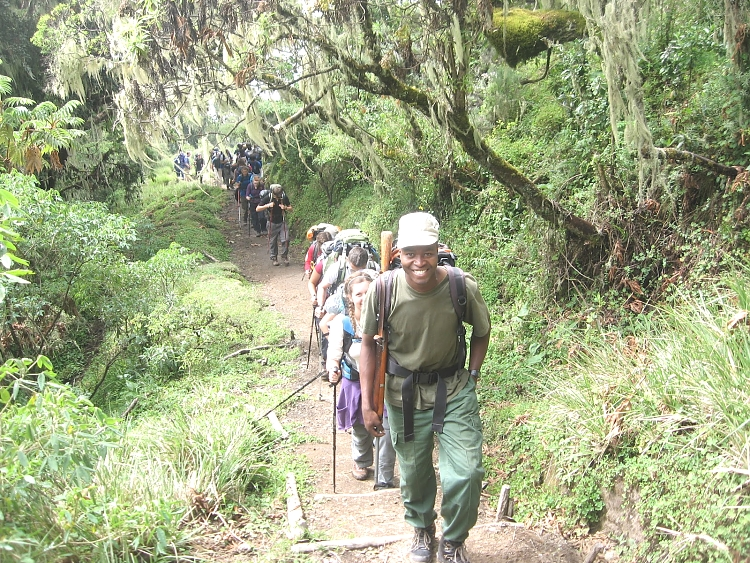 Hiking in Mount Meru
